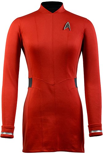 [CosplaySky Star Trek Beyond Dress Nyota Uhura Uniform Costume Small] (Red Star Trek Dress)