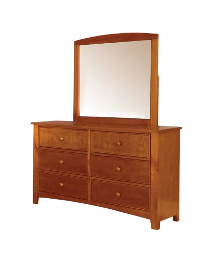 Furniture Of America Alaia Oak 2-Piece Dresser And Mirror Set