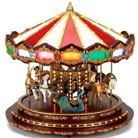 Mr Christmas Grand Marquee Musical Carousel with Lights