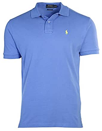 Polo ralph lauren men custom fit pony logo polo t shirt m for Amazon custom t shirts