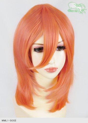 スキップウィッグ 魅せる シャープ 小顔に特化したコスプレアレンジウィッグ フェザーミディ スモモ