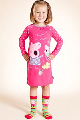 Younger Girls' Peppa Pig Sequin Nightdress
