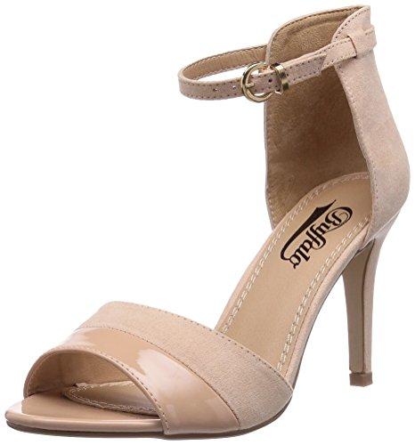 Buffalo Shoes 312339 Imi Suede Pat Pu - Sandali con Zeppa Donna, Beige (NUDE 01), 41 EU