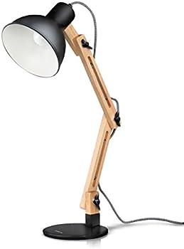 Tomons Classic Wood Swing Arm Desk Lamp