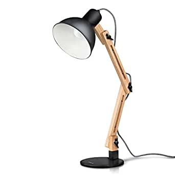 tomons scandinavian swing arm desk lamp adjustable design wood table lamp for living room. Black Bedroom Furniture Sets. Home Design Ideas