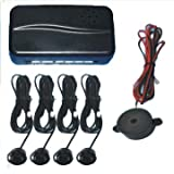 Black Rear Car Parking Reversing with 4 Sensor Buzzer Mini box Kit in car technology