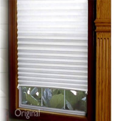 redi shade original 48 inch light filtering temporary window shade white 3842378 750227002379. Black Bedroom Furniture Sets. Home Design Ideas