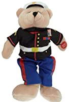 Plush Bear Chantilly Lane 11 Inch Singing Military Hero Marines From the Halls of Montezuma by Chantilly Lane