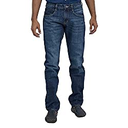 Inego Men's Cotton Slim Fit Jeans (Idprs11A-30_413 _Blue _30)