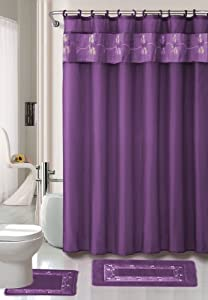 Amazon Com Beverly Purple 4 Piece Bathroom Shower