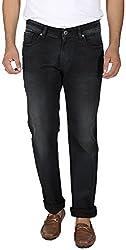 EASIES Men's Slim Fit Jeans (1072 Bndft Smknir_30, Black, 30)