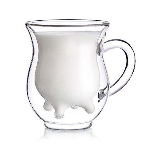niceeshop(TM) Cute Calf and Half Transparent Heat,Resisting Double,layer Glass Cup/Creamer Pitcher