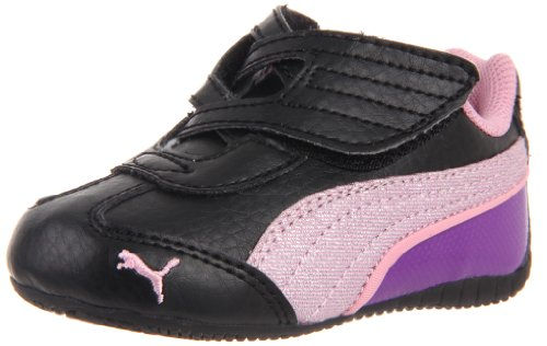 Puma Delor Cat Glamm SL V Kids Sneaker (Toddler/Little Kid/Big Kid),Black/Puma Silver/Lilac Sachet,9 M US Toddler