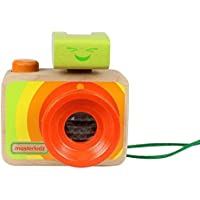 Masterkidz Adorable Camera With Kaleidoscope And Adjustable Flashlight Wooden Educational Toy For Kids(Mk00439)