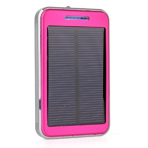 Geekbuying 48000Mah Dual Usb Portable Solar Panel Power Bank With Led For Smart Phone (Iphone 5S 5 4S..., Samsung Galaxy S5 S4 Note3 Note2...), Gps, Mp3 Player (Pink)