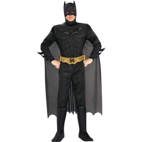 Deluxe Muscle Chest Batman Costume - X-Large - Chest Size 44-46