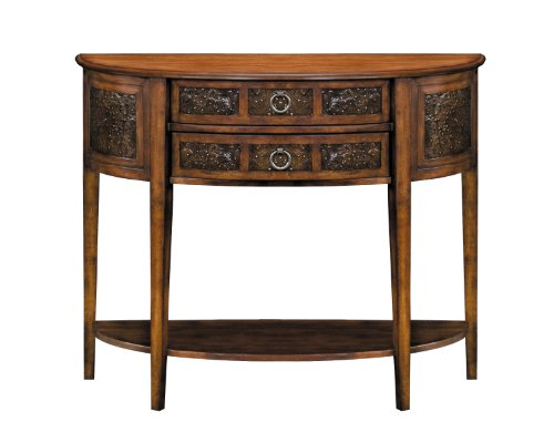 Buy low price stein world console table with 2 drawers for Demilune console table with drawers