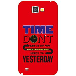Samsung Galaxy Note 2 N7100 Don'T Look Back Matte Finish Phone Cover