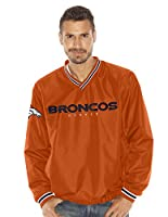 "Denver Broncos NFL Men's ""Stop & Go"" Wordmark Pullover Embroidered Jacket by G-III"