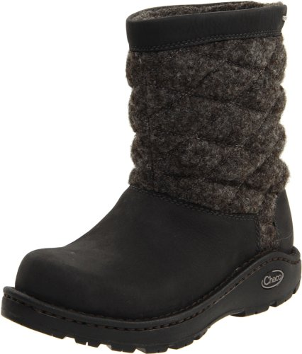 Chaco Women's Arbora Wool Waterproof Nurl Cold Weather Boot,Black,11 B US
