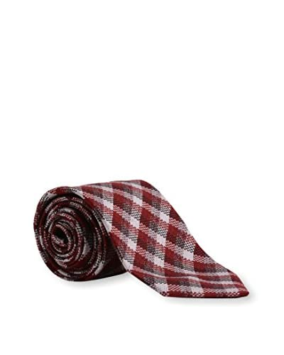 Tom Ford Men's Plaid Silk Tie, Red Multicolor