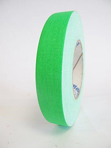 8 Rolls Premium Professional Grade Gaffer Tape - 1 Inch X 50 Yards - Fluorescent / Neon Green Color - 8 Rolls Per Case