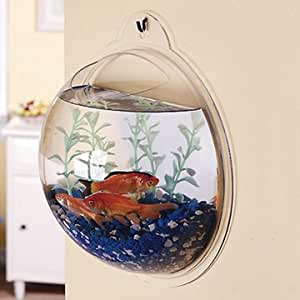 New Fish Wall Mounted Bowl Aquarium Wall Hanging Tank