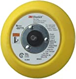 "3M(TM) Hookit(TM) Disc Pad 05775, Hook and Loop Attachment, 5"" Diameter x 3/4"" Thick, 5/16""-24 External Thread, Yellow  (Pack of 1)"