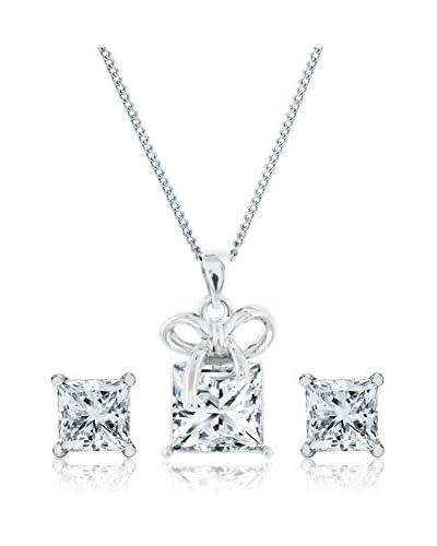 Diamond Style Set catenina, pendente e orecchini Princess Studs