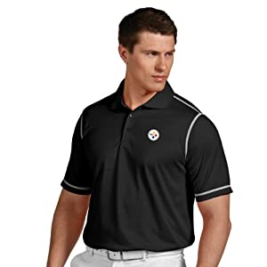 NFL Pittsburgh Steelers Men's Icon Desert Dry Polo from Antigua