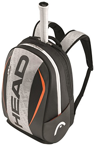 Head Tour Team Backpack Tennis Bag, Silver/Black (Tennis Racquet Bag Head compare prices)