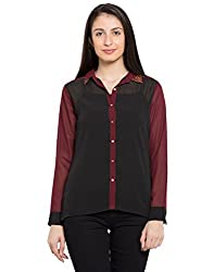 TARAMA Black color Black-Ggt fabric Solid Shirt for womens