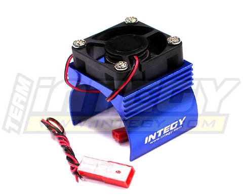 Integy RC Hobby C23140BLUE Super Brushless Motor Heatsink+Cooling Fan 540 Size BL (540 Motor Cooling Fan compare prices)