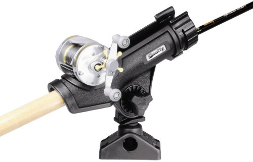 Scotty Powerlock Black Rod Holder with 241 Side Deck Mount Picture