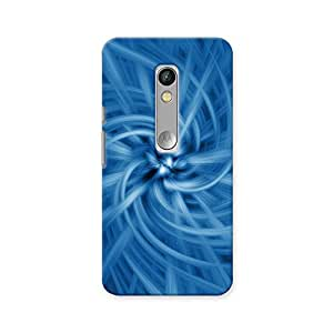 ArtzFolio Blue Spiral Digital Artwork : Motorola Moto X Play Matte Polycarbonate ORIGINAL BRANDED Mobile Cell Phone Protective BACK CASE COVER Protector : BEST DESIGNER Hard Shockproof Scratch-Proof Accessories