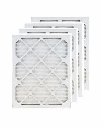 20x30x1 (19.5x29.5) MERV 8 Air Filter/Furnace Filters (4 pack) (Furnace Filters 20x30 compare prices)