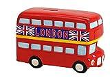 Spardose London Bus Keramik Sparbüchse Reisekasse 19 cm x 8