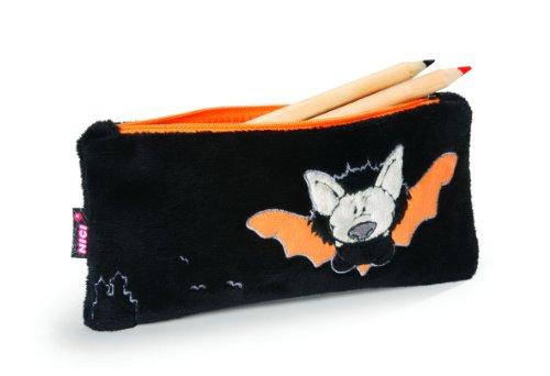 Imagen principal de Nici 32988 - Estuche portalápices de peluche, diseño murciélago, 21 x 10 cm, color negro