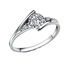 buy Moandy Jewelry Silver Plated Classic Design White Round Cz His & Hers Matching Love Bands Wedding Rings Size 7