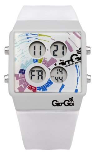 Gio-Goi Men's 'Cookin' Digital Watch GG1002W With Green PU Strap