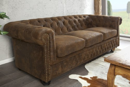 Invicta Interior 17382 Chesterfield Sofa 3-er, Antik Look ...