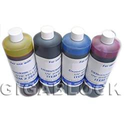 Gigablock Pint (470ml x 4) 4 Color Refill Ink Set for CIS System of HP10 & HP82 cartridge such as HP Designjet 500/500ps/ 800/800ps/ 815mfp printer