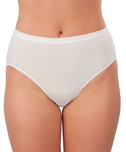 Knock out! Women's Cotton Brief Large White