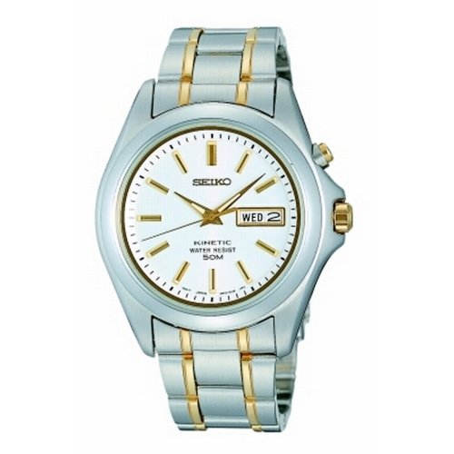 Seiko Kinetic Gents Bicolour Watch