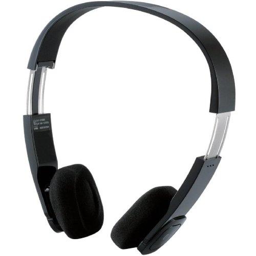 Logitec iPhone4/4S/3GS/3G スマートフォン対応 Bluetooth ワイヤレスヘッドホン オーバーヘッド apt-X、AAC対応 ACアダプタ付き ブラック LBT-AVOH02ABK
