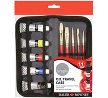 "Ölmalfarben ""simply..."" Reise Set 11-teilig mit Tasche von Daler Rowney / Ölmalset / Ölmalerei"