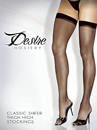 Fantasy Lingerie Women's Classic Sheer Thigh High Stockings