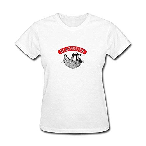 JXK Women's Slaughterhouse Hip Hop Group Logo T-shirt Size S ColorName (Slaughterhouse Glass House compare prices)