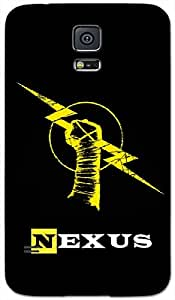 Timpax Protective Hard Back Case Cover With Easy access to all ports Printed Design : Yellow thunder.Specifically Design For : Samsung Galaxy S-5