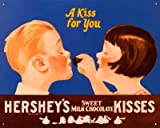 Hershey's Chocolate Kisses A Kiss for Your Retro Vintage Tin Sign - 32x41 cm